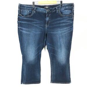 Silver suki Capri jeans 24x22.5